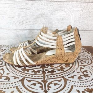 Donald J Pliner Cork & Cord Wedge Sandals